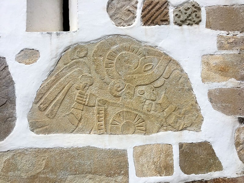 Carved stones from a Zapotec city