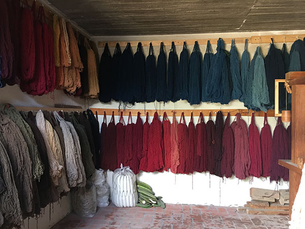 naturally dyed yarns