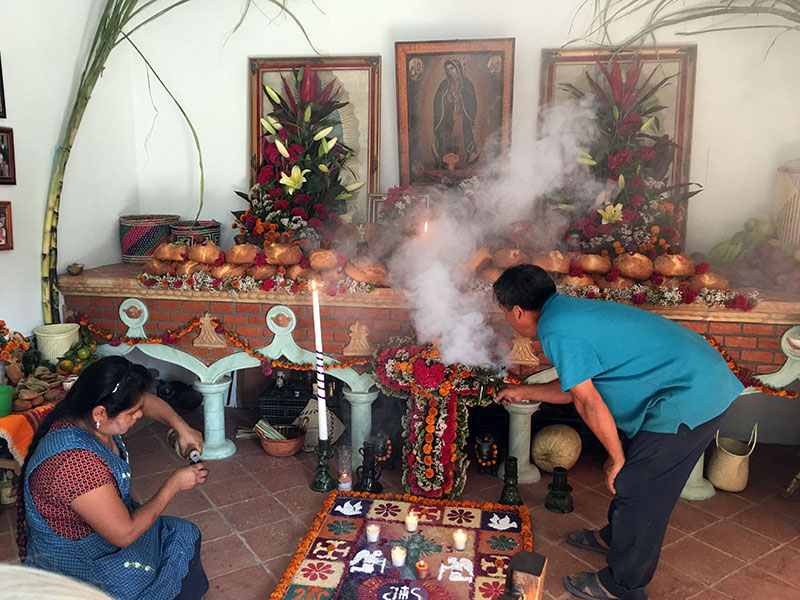 Welcoming our loved ones during a Day of the Dead celebration.